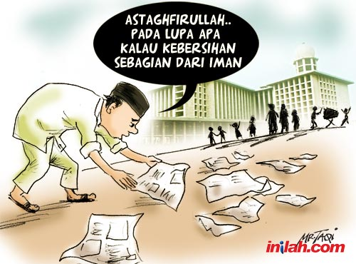 Karikatur sampah (web.inilah.com)
